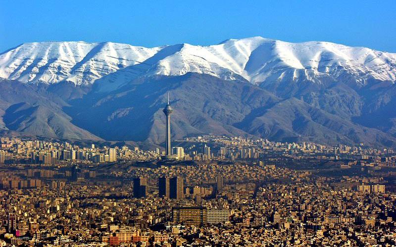 شاخص کیفیت هوای تهران در تاریخ 07 اسفند 1397